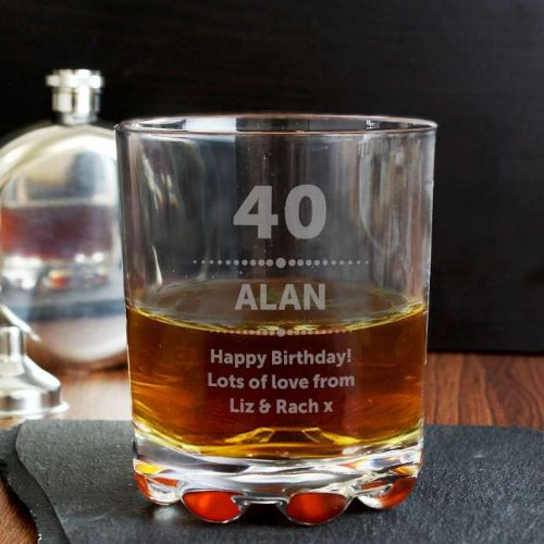 Personalised Birthday Star Whisky Glass